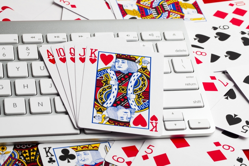 cards on a keyboard